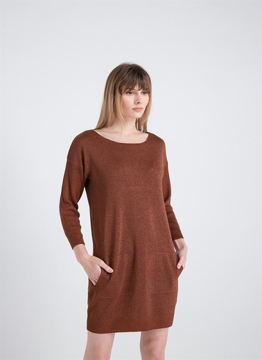 Xtsy Lurex İpli Triko Elbise Renkli